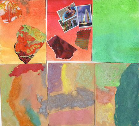 Abstract postcards with year 7 (and a special note)