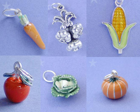 Fruit and Vegetable Charms