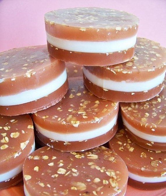Oatmeal Cream pie cookie soap