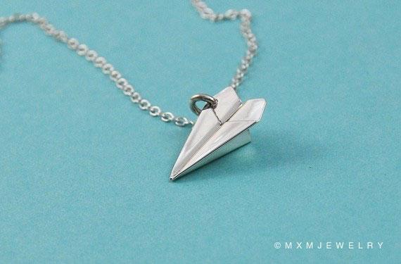 Silver Paper Plane