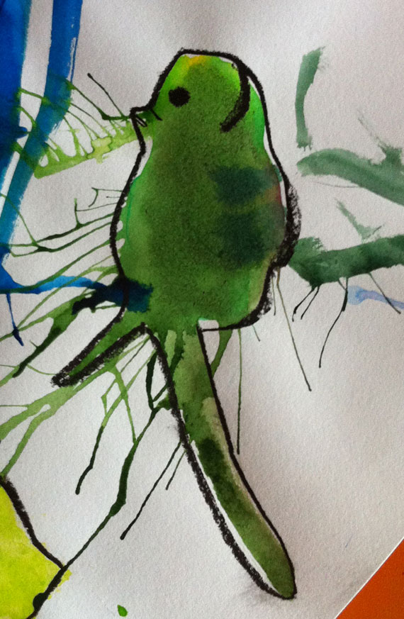 Ink splats, imagination and why I teach art.