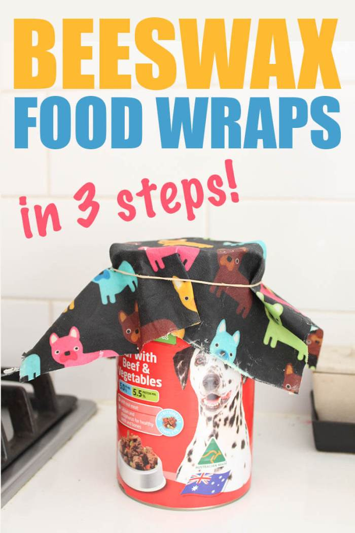 Make your own beeswax food wraps