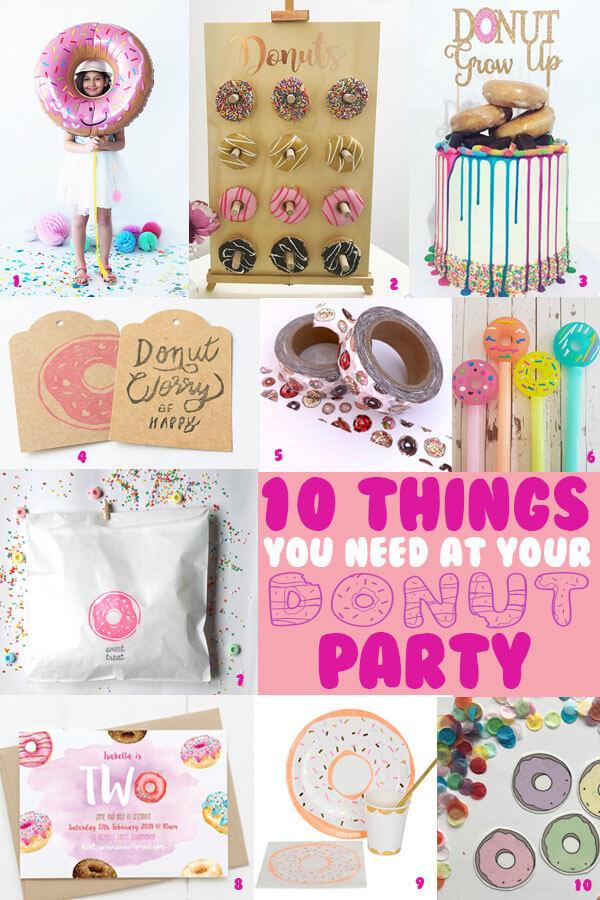 Donut party essentials