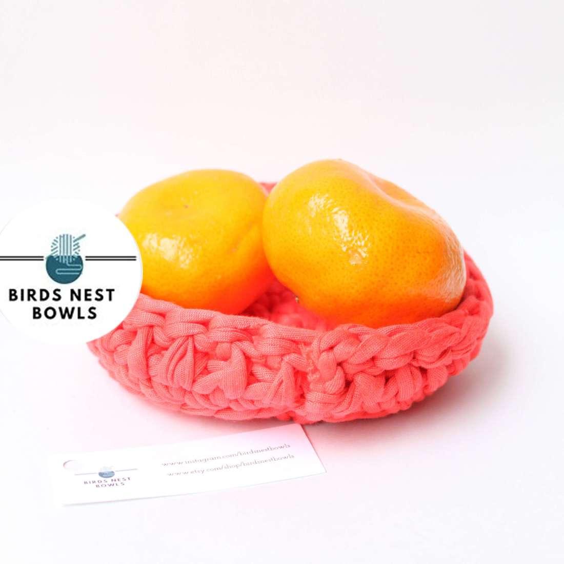 Birds Nest Bowls - Crocheted multi function bowl