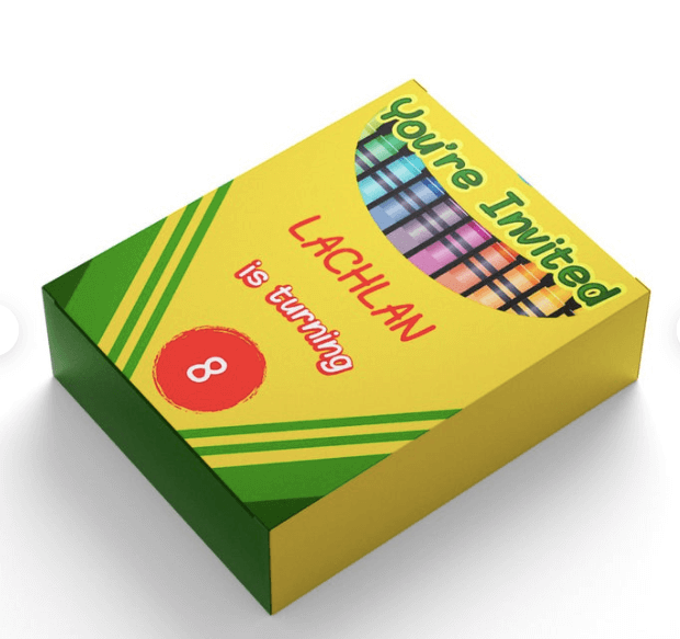 Crayon box template by The DigiDame