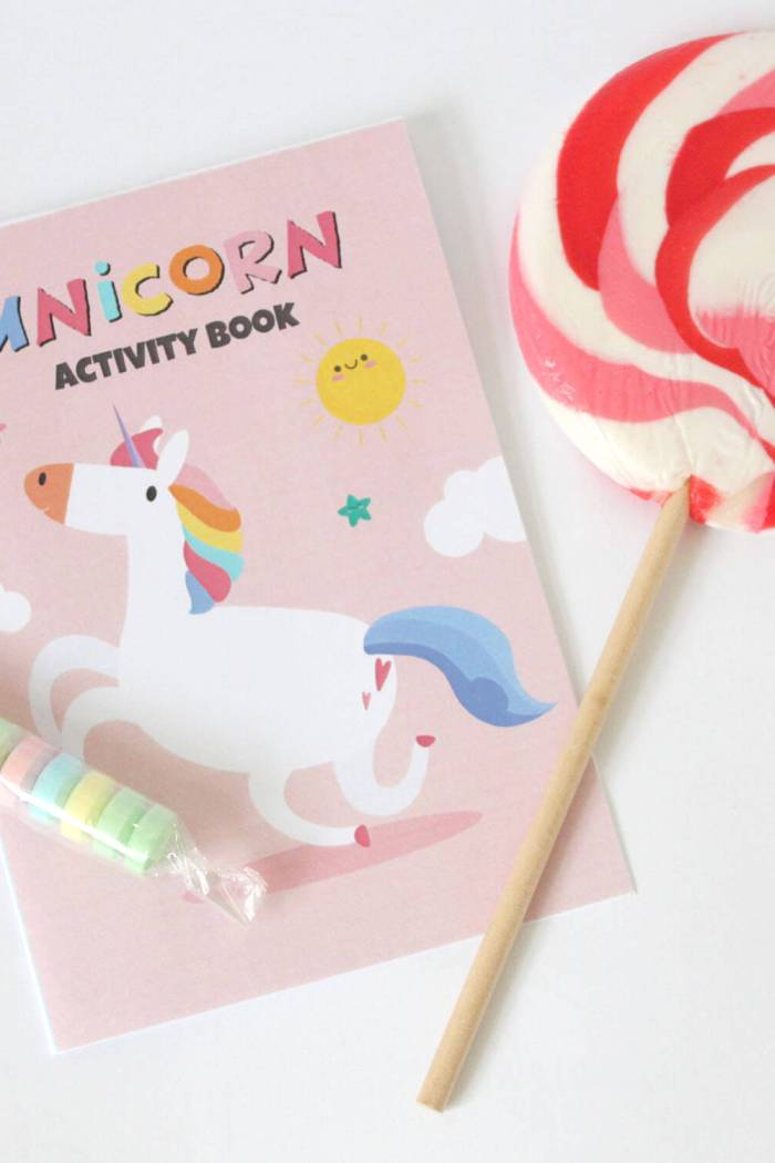 Dinosaur, Unicorn and Rainbow party bag activity books! Pop them in your Eco party bags!