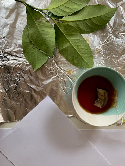 Leaf embossing with Tea