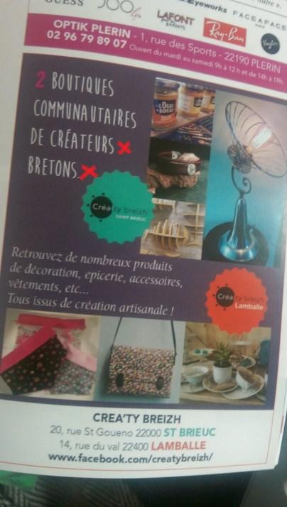 Publicité de la boutique Crea'Ty Breizh