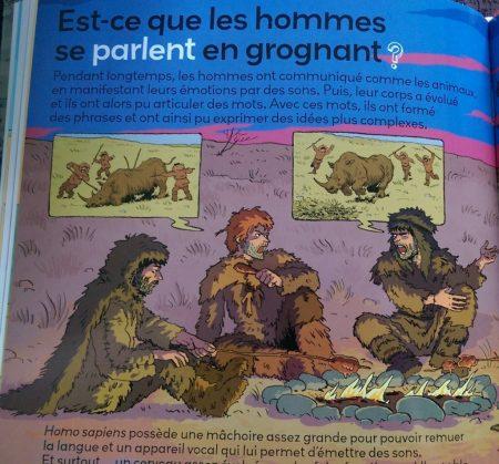 Les hommes préhistoriques parlent en grognant - Adelphité du Langage