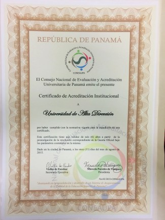 certificado acreditacion