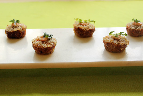 Dressing Up Your Food: Crab Cake Canapes