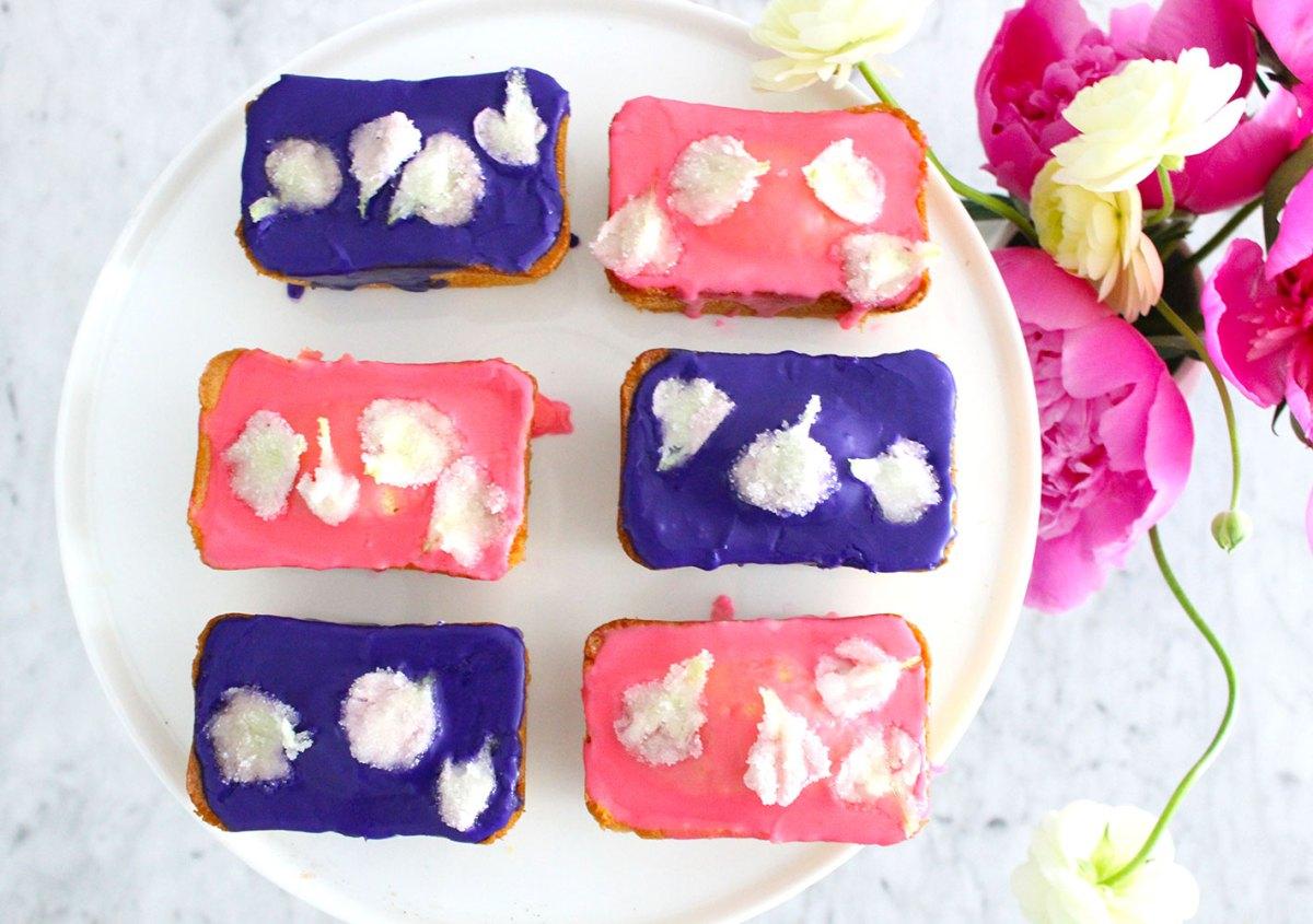 Sugar Petal Pound Cakes