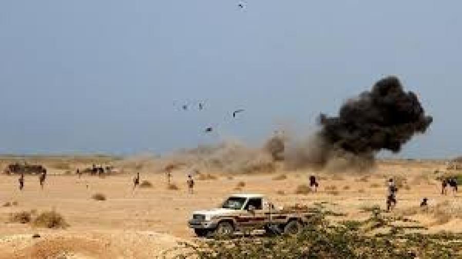 تعز : عشرات القتلى والجرحى من الإنقلابيين في غارات مكثفة على مواقعها في موزع ومحيط معسكر خالد