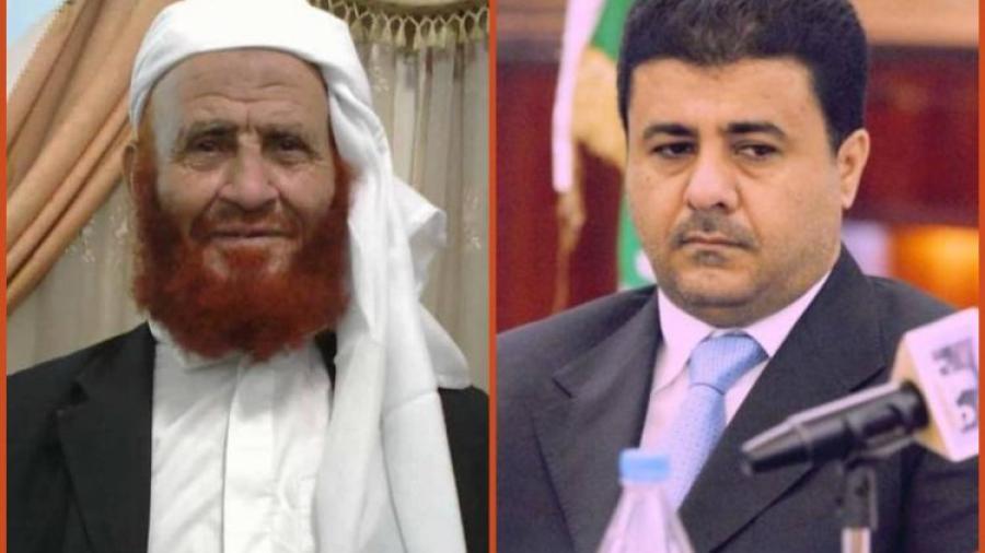 الشيخ احمد العيسي يعزي في وفاة الشيخ غالب المسوري