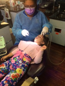 Kids Dentist at work
