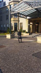 Chris in his kilt at Gleneagles