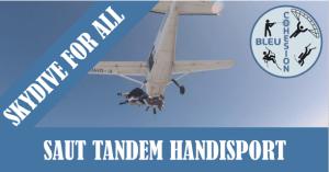 Saut Parachute en tandem Handisport @ Aéroport de Nevers Fourchambault   Marzy   Bourgogne-Franche-Comté   France