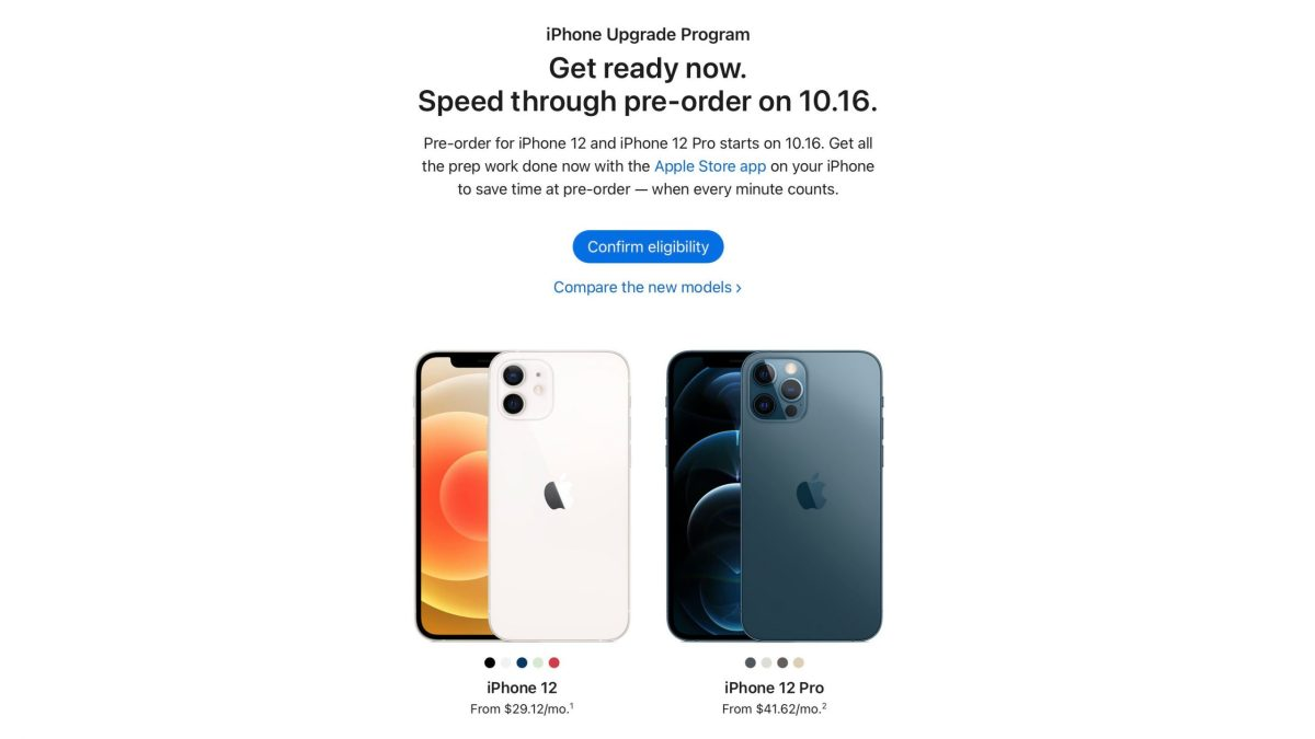 Apple begins offering iPhone Upgrade Program pre-approvals ahead of iPhone 12 release