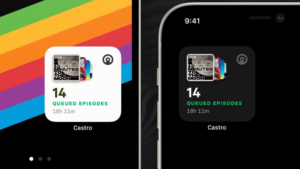 Castro podcast player gains sharp iOS 14 widgets with dark mode support