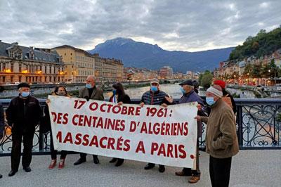 Hommage à Grenoble pour les Algériens massacrés le 17 octobre 1961 à Paris  « ADES – Le Rouge et le Vert