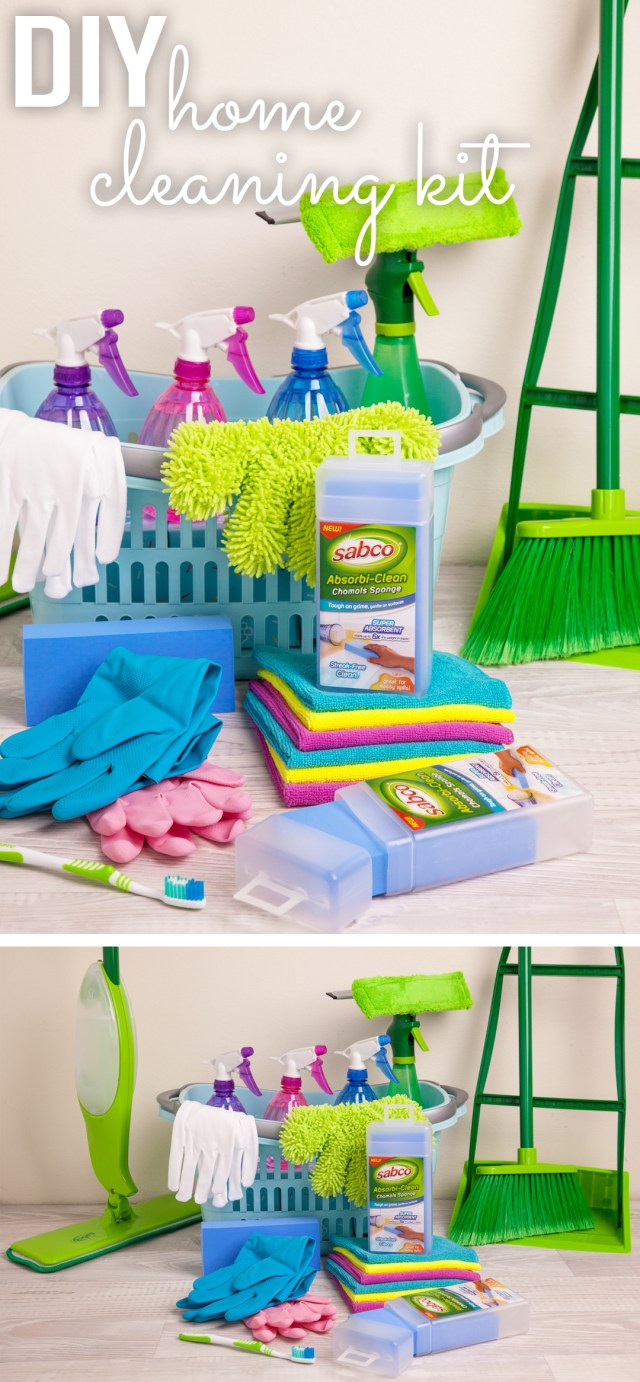 Put together this handy DIY home cleaning kit with all the essentials in the one place! Helps you to keep a cleaner, tidier, happier home.