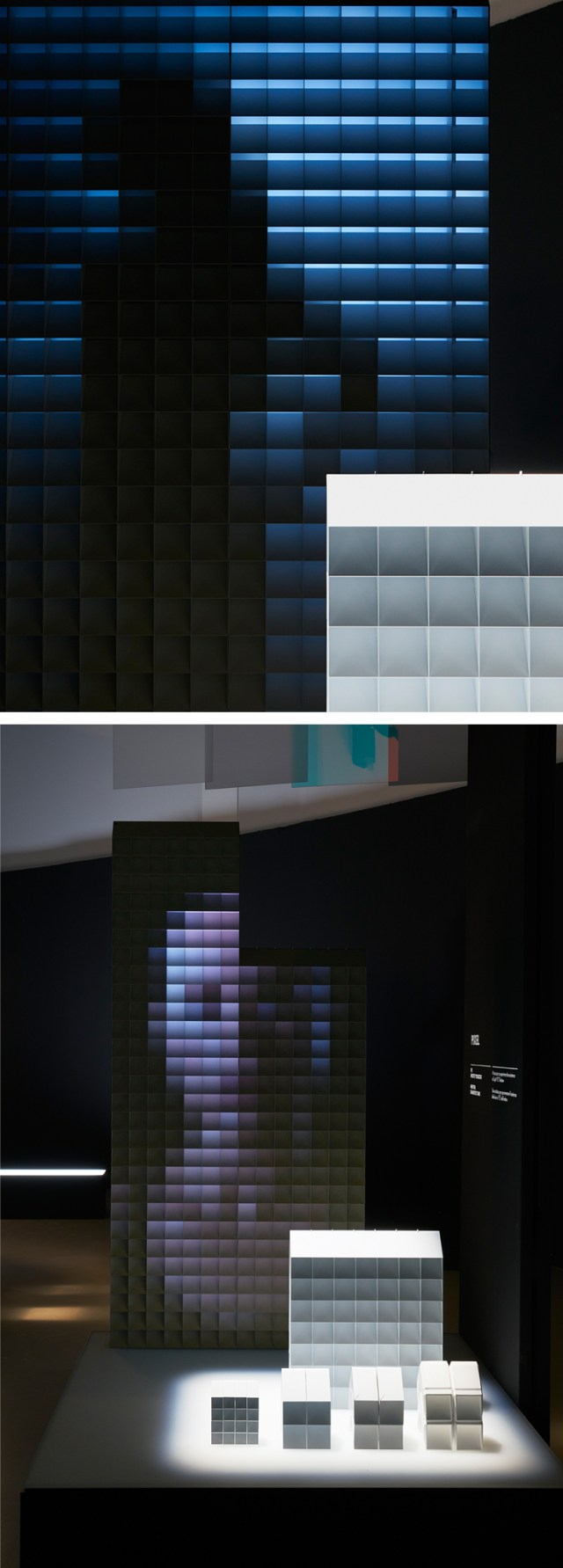Lexus judges chose PIXEL - a configuration of visors that alternate their appearance in tandem with the viewer's movements and perspective - as the Grand Prix winner due to it's imaginative exploration of two seemingly contrasting elements: Light and Shadow. This idea would have many applications, from architectural facades, privacy screens in the home and office, theatre sets, exhibitions etc. and could be scaled up or down and fabricated from a wide range of materials such as cardboard, sheet metal or ceramic. Seemingly simple but flawless in execution. PIXEL | Designer: Hiroto Yoshizoe | Mentored by Snarkitecture | Lexus Design Award 2017 | Milan Design Week | La Triennale di Milano | Awesome Products #product_design