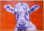 Cow under painting