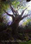 Sir Gawain acrylic painting spring tree