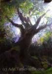 Sir Gawain acrylic painting spring tree