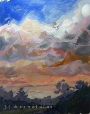 Acrylic imagined sky