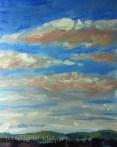 Acrylic sky from memory