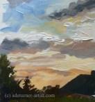 Acrylic sky over the backs