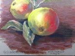 Apples in pastel