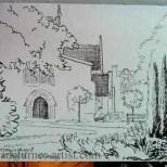 St Marys in ink