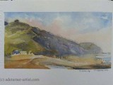 Watercolour - Charmouth looking east
