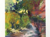 Gouache - River Otter north of Otterton