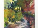 Gouache - River Otter north of Otterton