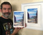 Kynance Cove: The Bellows - framed original with Giclee print