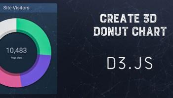 Create A Simple Donut Chart Using D3 Js A Developer Diary