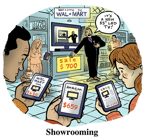 showrooming retail ecommerce wal-mart