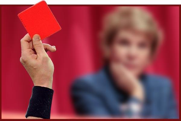 Cartão vermelho a Marta Suplicy