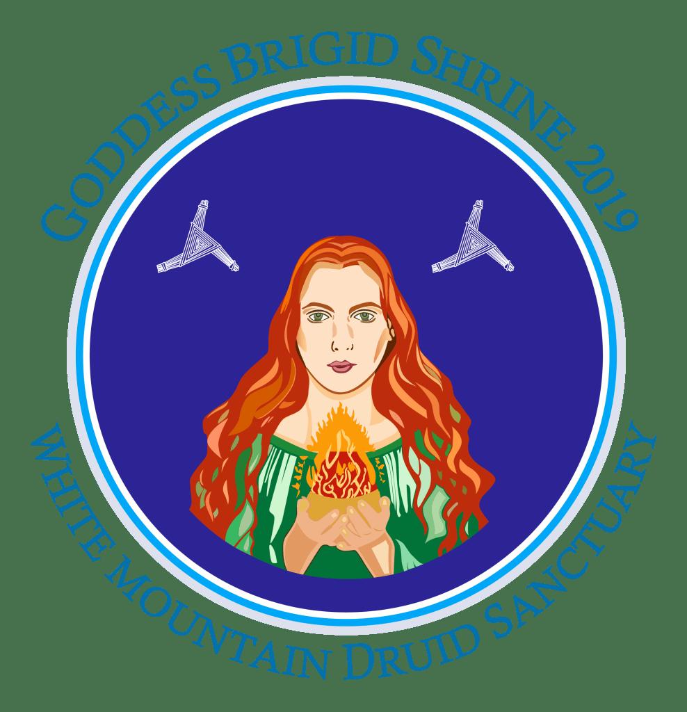 Logo for the Brigid shrine to be built at the White Mountain Druid Sanctuary.
