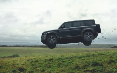 WATCH: The all-new Land Rover Defender takes flight