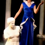Ball gown EL statue