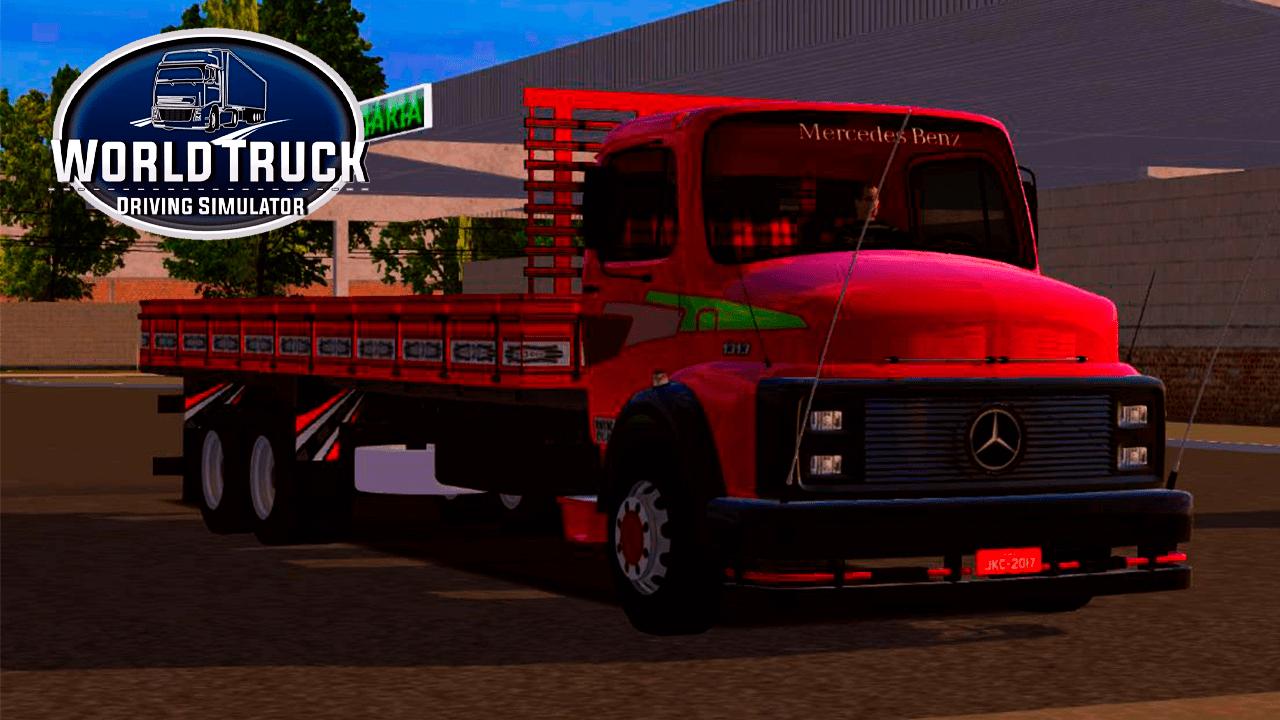 Skin MB 1313: Vermelho com Rodas Cromadas para World Truck Simulator