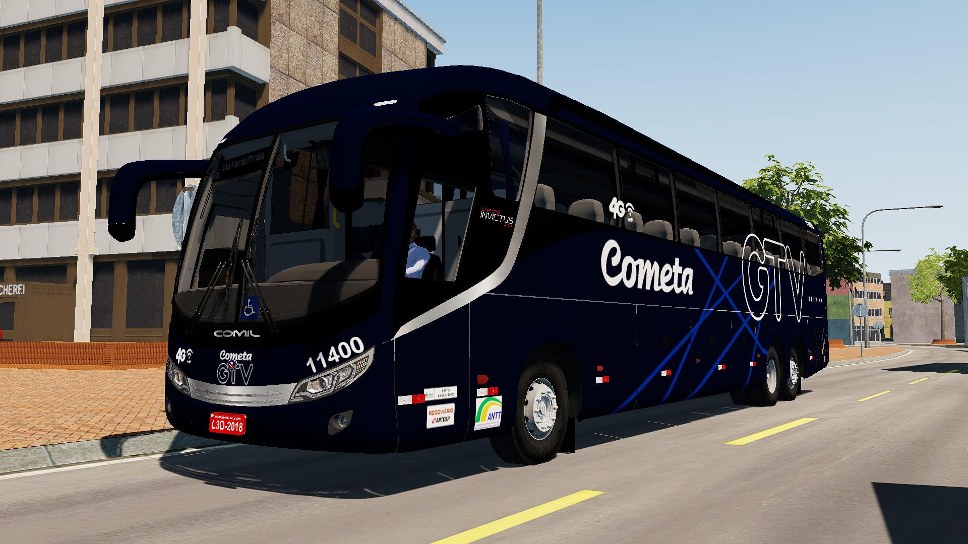 Mod do Comil Invictus 1200 Scania K400IB (6×2) para Proton Bus Simulator/Road