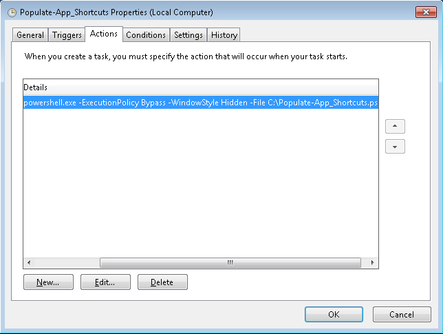 Create shortcuts to deploy available applications ConfigMgr