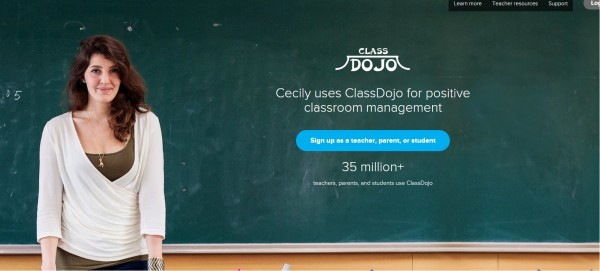 ClassDojo website for positive classroom management