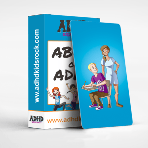 Making flashcards to help teachers learn the best strategies for teaching kids with ADHD.
