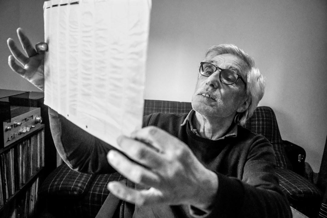 Andrés Fernández en su casa en Montevideo. Foto: Javier Calvelo / adhocFOTOS